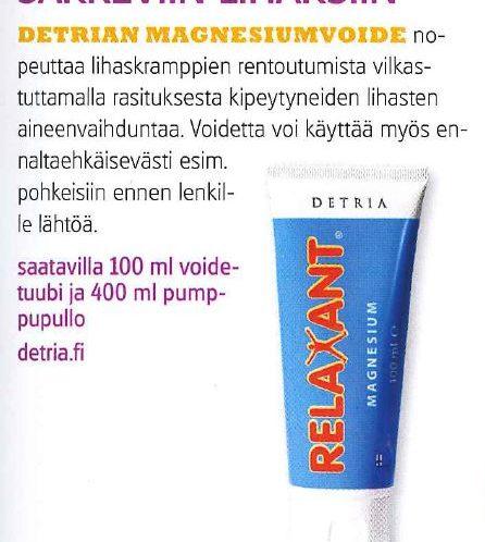 Relaxant Magnesium Hiihto 6 2016