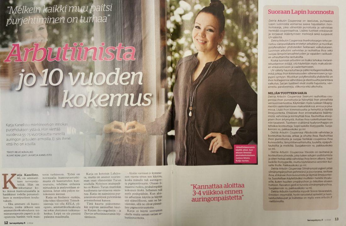 Terveyshymy 2 2018 Katja Kanelisto arbutiini